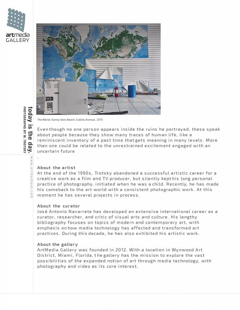 Artmedia Gallery Peter Emanuel Goldman Press Release 1