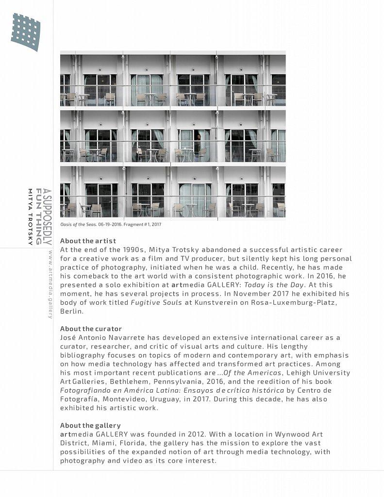 Artmedia Gallery TVF Press Release 1